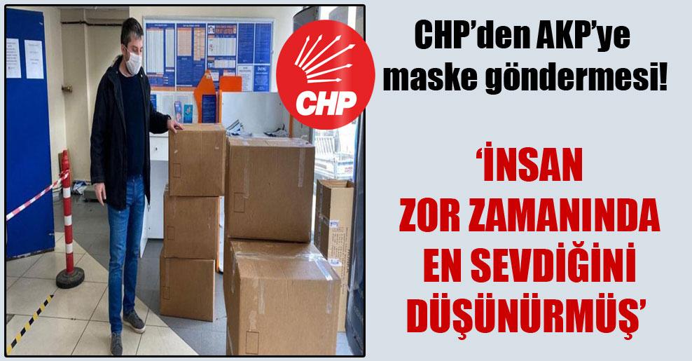 CHP'den AKP'ye maske göndermesi!