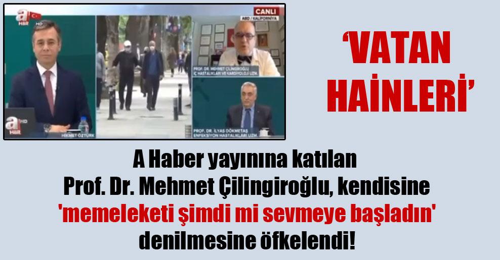 A Haber yayınına katılan Prof. Dr. Mehmet Çilingiroğlu, kendisine 'memeleketi şimdi mi sevmeye başladın' denilmesine öfkelendi!
