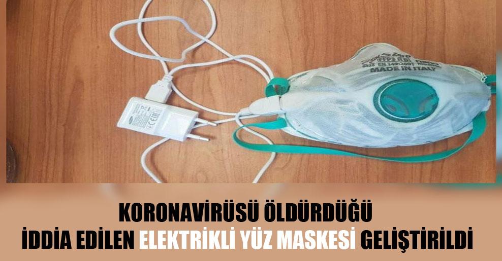 Koronavirüsü öldürdüğü iddia edilen elektrikli yüz maskesi geliştirildi