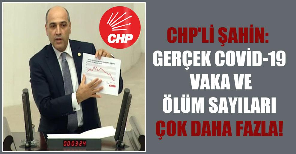 CHP'li Şahin: Gerçek Covid-19 vaka ve ölüm sayıları çok daha fazla!