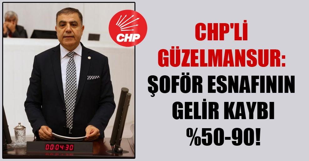CHP'li Güzelmansur: Şoför esnafının gelir kaybı  yüzde 50-90 arasında!
