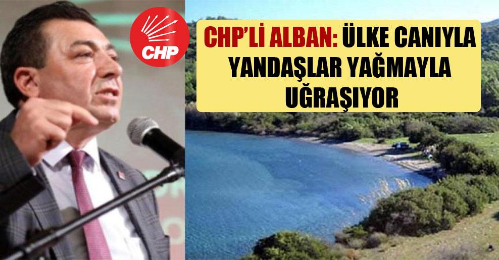 CHP'li Alban: Ülke canıyla yandaşlar yağmayla uğraşıyor