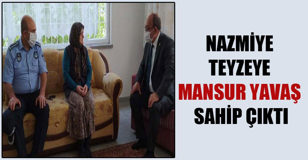 Nazmiye teyzeye Mansur Yavaş sahip çıktı