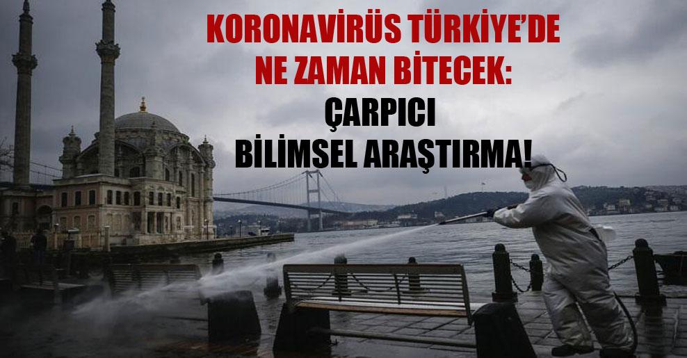 Koronavirüs Türkiye'de ne zaman bitecek: Çarpıcı bilimsel araştırma!