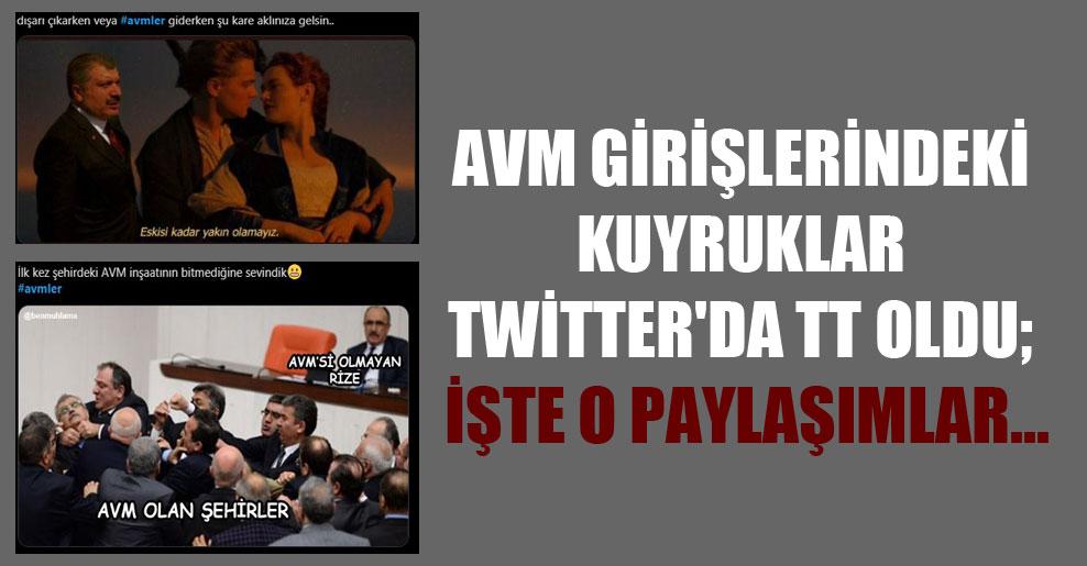 AVM girişlerindeki kuyruklar Twitter'da TT oldu; işte o paylaşımlar…