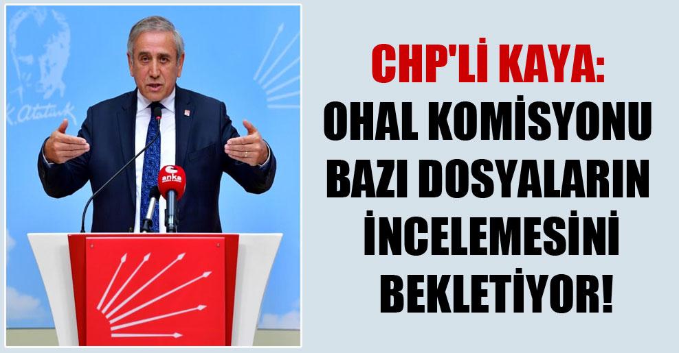 CHP'li Kaya: OHAL Komisyonu bazı dosyaların incelemesini bekletiyor!