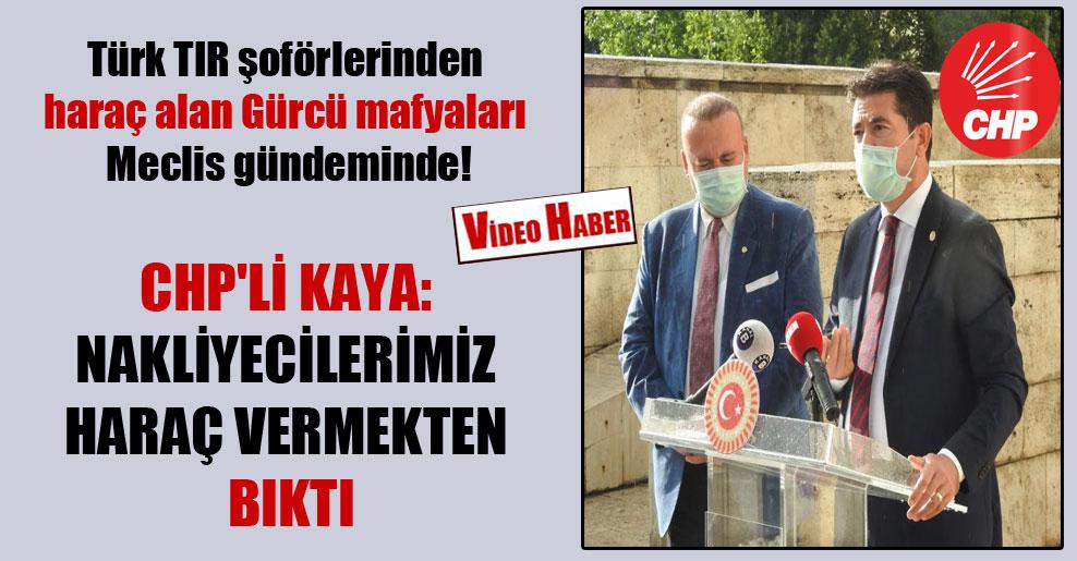 Türk TIR şoförlerinden haraç alan Gürcü mafyaları Meclis gündeminde!