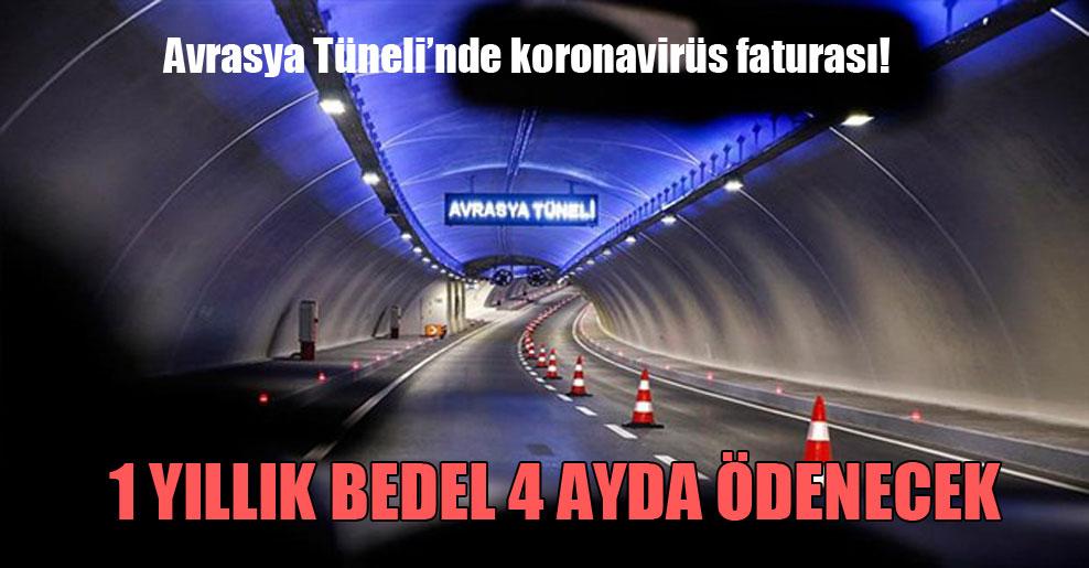 Avrasya Tüneli'nde koronavirüs faturası!