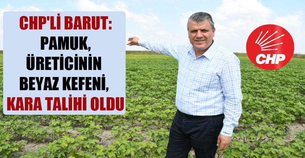 CHP'li Barut: Pamuk, üreticinin beyaz kefeni, kara talihi oldu