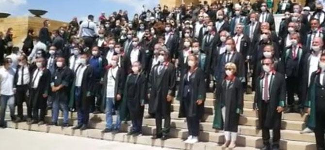 Baro başkanları Anıtkabir'de!