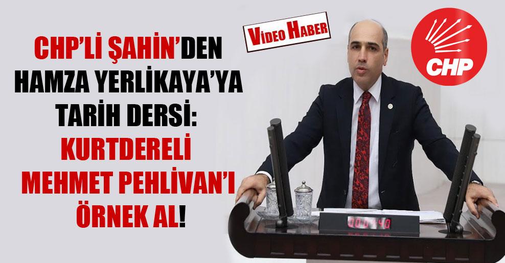 CHP'li Şahin'den Hamza Yerlikaya'ya tarih dersi: Kurtdereli Mehmet Pehlivan'ı örnek al!