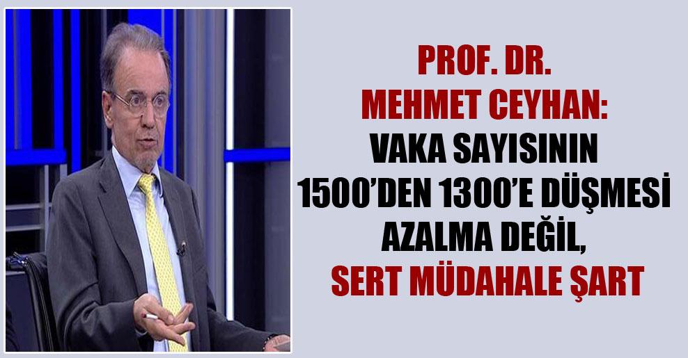 Prof. Dr. Mehmet Ceyhan: Vaka sayısının 1500'den 1300'e düşmesi azalma değil, sert müdahale şart