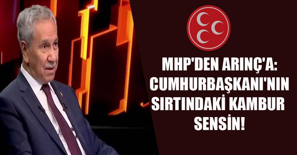 MHP'den Arınç'a: Cumhurbaşkanı'nın sırtındaki kambur sensin!