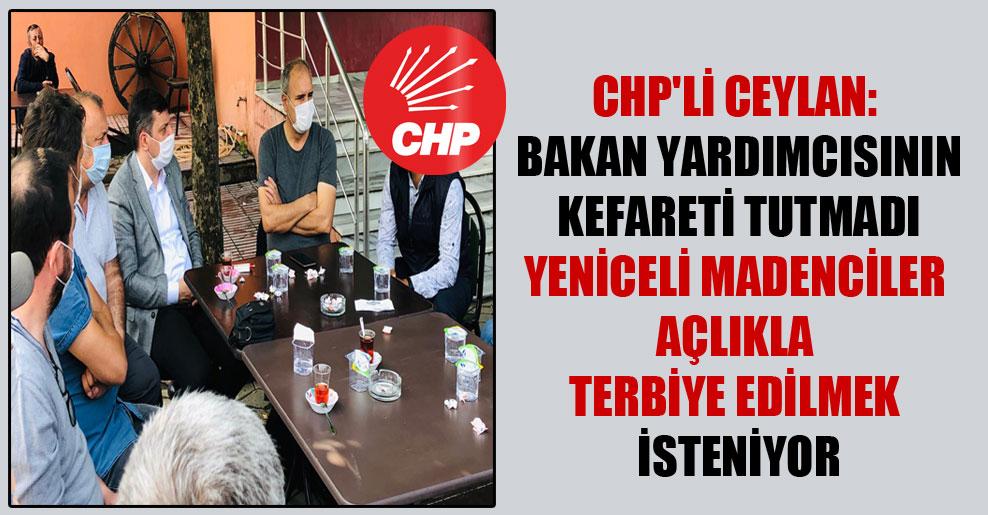 CHP'li Ceylan: Bakan yardımcısının kefareti tutmadı Yeniceli madenciler açlıkla terbiye edilmek isteniyor