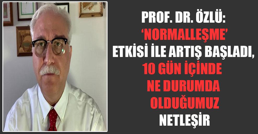 Prof. Dr. Özlü: 'Normalleşme' etkisi ile artış başladı, 10 gün içinde ne durumda olduğumuz netleşir