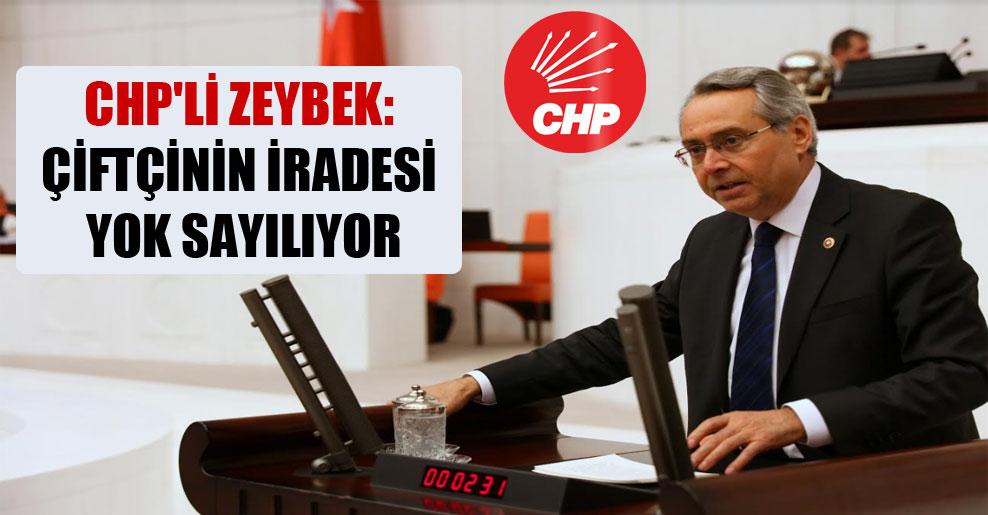CHP'li Zeybek: Çiftçinin iradesi yok sayılıyor
