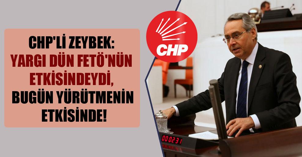 CHP'li Zeybek: Yargı dün FETÖ'nün etkisindeydi, bugün yürütmenin etkisinde!