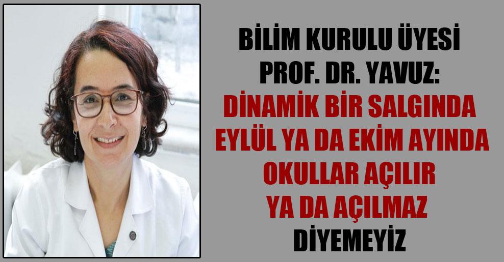 Bilim Kurulu Üyesi Prof. Dr. Yavuz: Dinamik bir salgında eylül ya da ekim ayında okullar açılır ya da açılmaz diyemeyiz