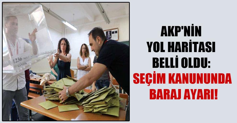 AKP'nin yol haritası belli oldu: Seçim kanununda baraj ayarı!