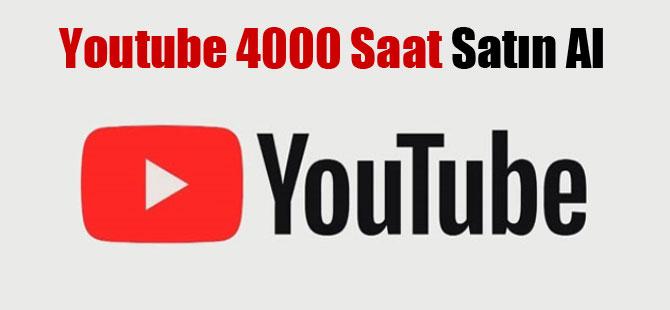 Youtube 4000 Saat Satın Al