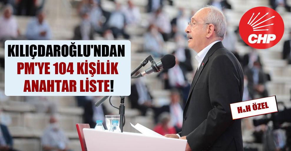 Kılıçdaroğlu'ndan PM'ye 104 kişilik anahtar liste!