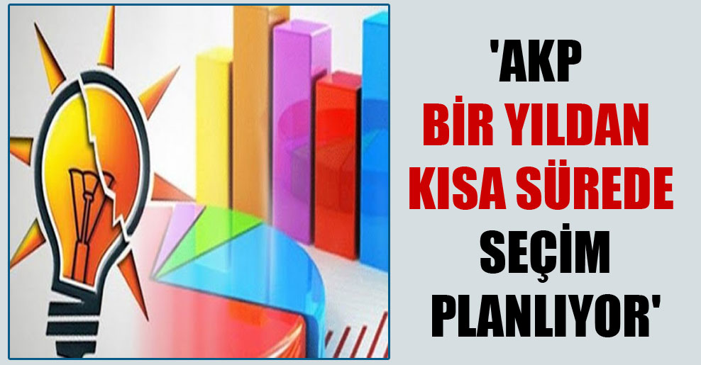 'AKP bir yıldan kısa sürede seçim planlıyor'