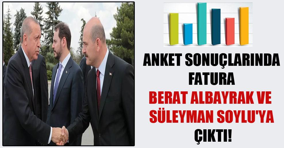 Anket sonuçlarında fatura Berat Albayrak ve Süleyman Soylu'ya çıktı!