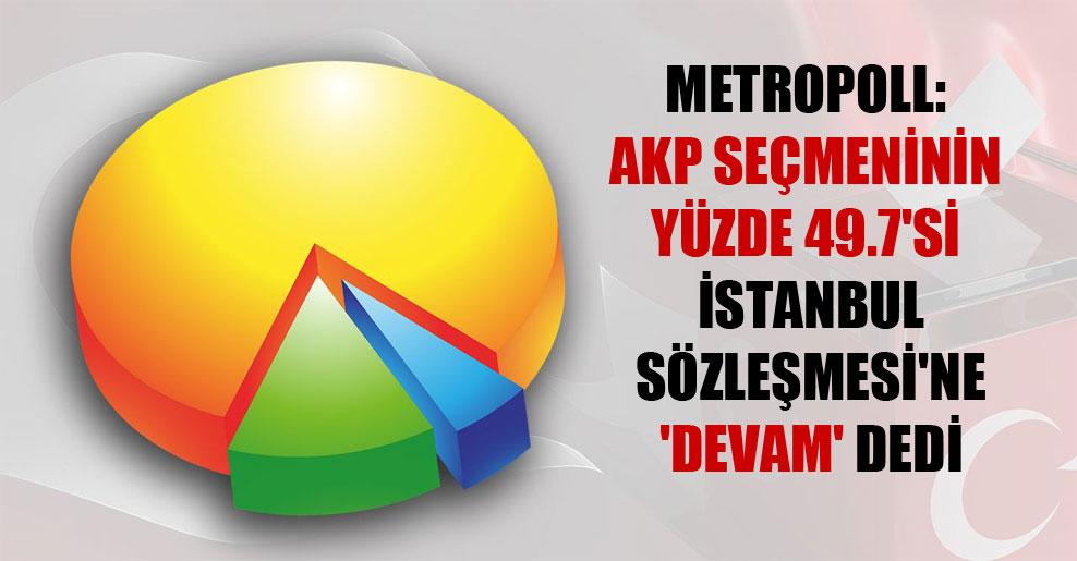 MetroPOLL: AKP seçmeninin yüzde 49.7'si İstanbul Sözleşmesi'ne 'devam' dedi