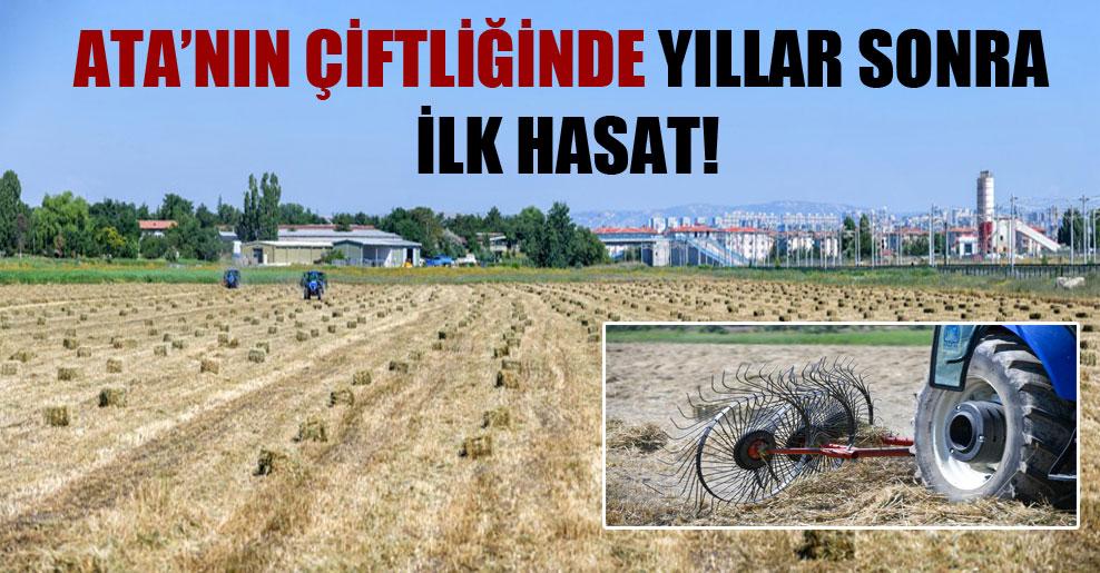 Ata'nın çiftliğinde yıllar sonra ilk hasat