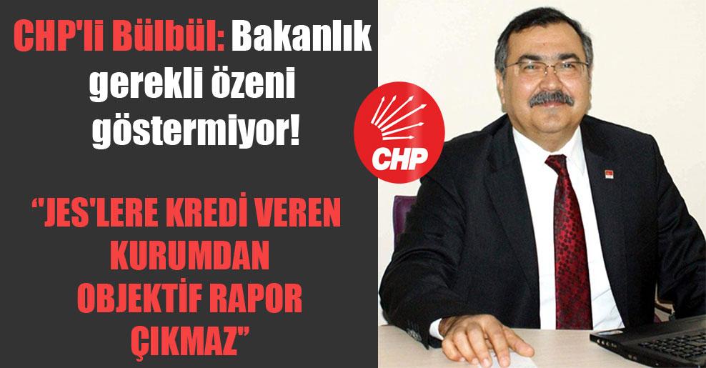 CHP'li Bülbül: Bakanlık gerekli özeni göstermiyor! 'JES'lere kredi veren kurumdan objektif rapor çıkmaz'