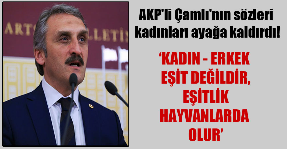 AKP'li Çamlı'nın sözleri kadınları ayağa kaldırdı!