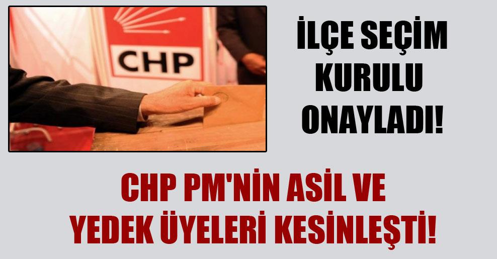 CHP PM'nin asil ve yedek üyeleri kesinleşti! İlçe seçim kurulu onayladı