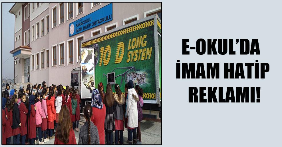 e-okul'da imam hatip reklamı!