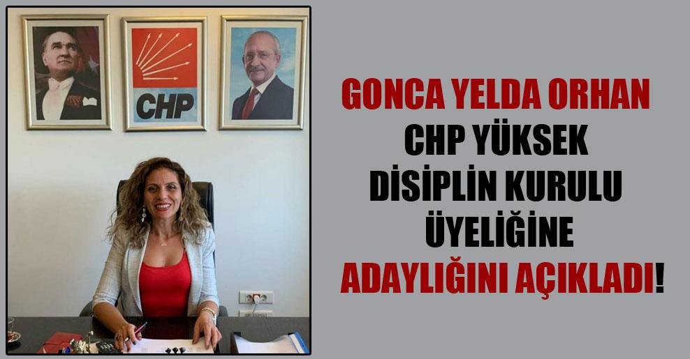 Gonca Yelda Orhan CHP Yüksek Disiplin Kurulu üyeliğine adaylığını açıkladı!