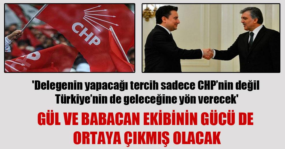 'Delegenin yapacağı tercih sadece CHP'nin değil Türkiye'nin de geleceğine yön verecek'