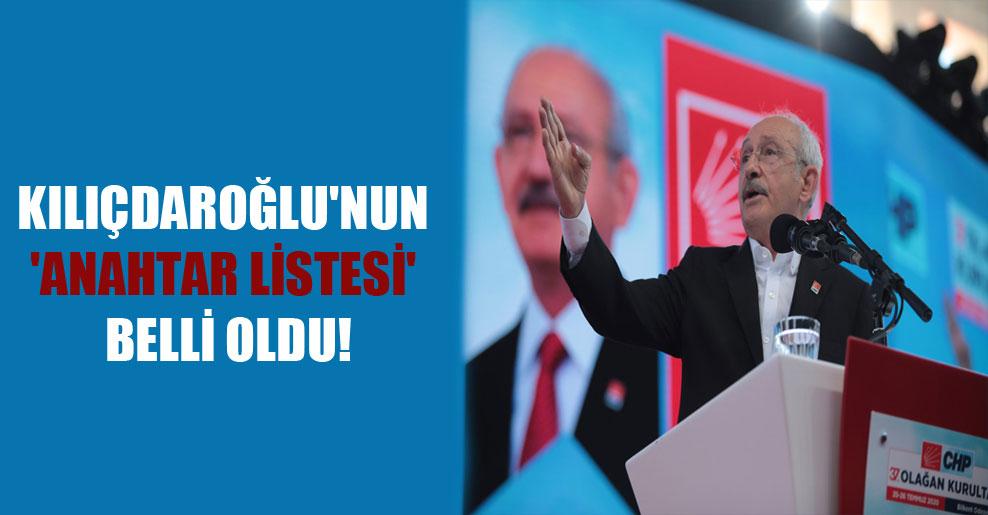 Kılıçdaroğlu'nun 'anahtar listesi' belli oldu!
