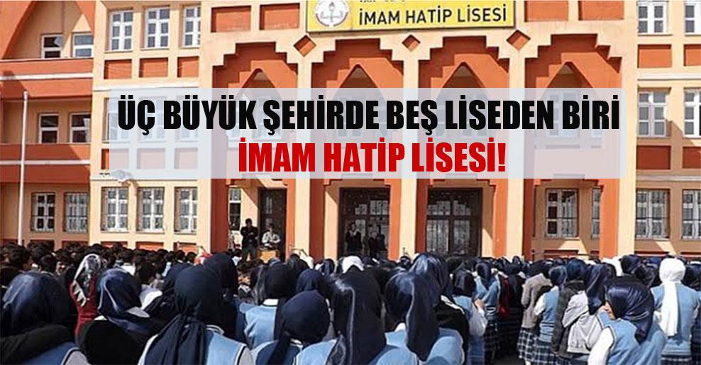 Üç büyük şehirde beş liseden biri imam hatip lisesi!