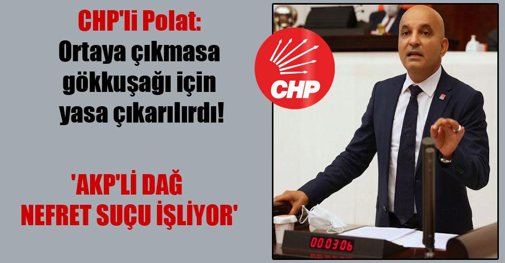 CHP'li Polat: Ortaya çıkmasa gökkuşağı için yasa çıkarılırdı! 'AKP'li Dağ nefret suçu işliyor'