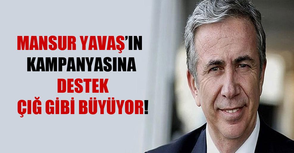 Mansur Yavaş'ın kampanyasına destek çığ gibi büyüyor!