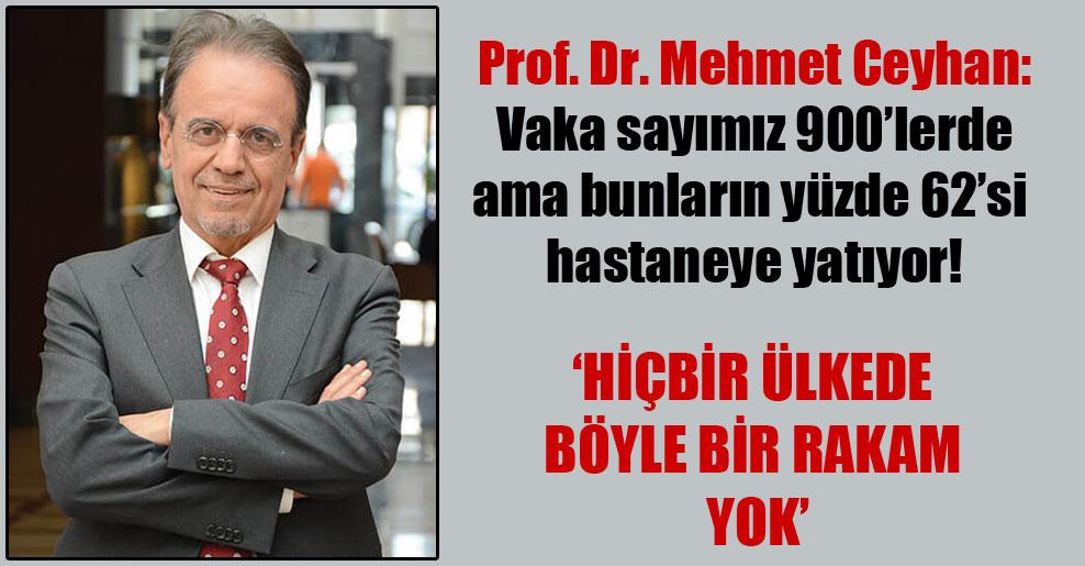 Prof. Dr. Mehmet Ceyhan: Vaka sayımız 900'lerde ama bunların yüzde 62'si hastaneye yatıyor!