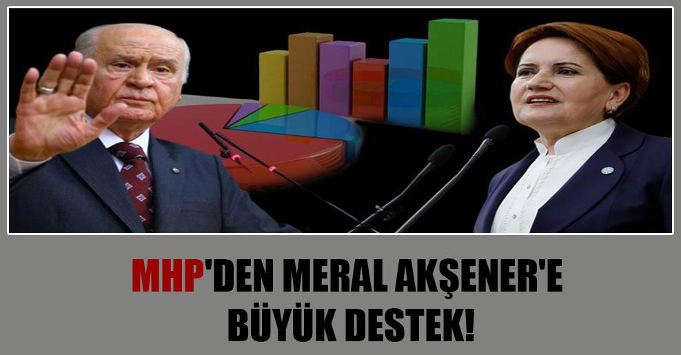 MHP'den Meral Akşener'e büyük destek!