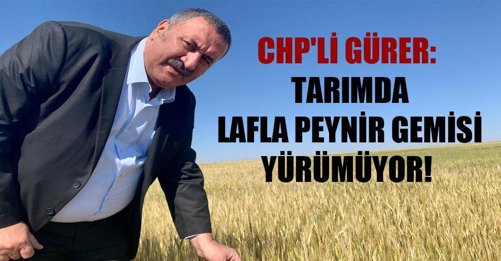 CHP'li Gürer: Tarımda lafla peynir gemisi yürümüyor!