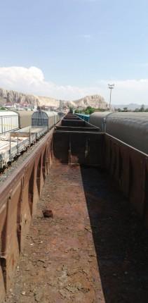 posalı kirli vagon geniş açı