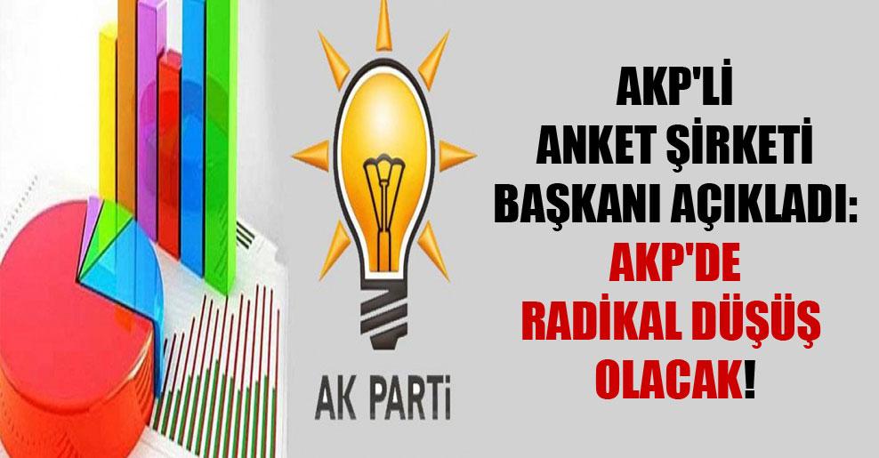 AKP'li anket şirketi başkanı açıkladı: AKP'de radikal düşüş olacak!