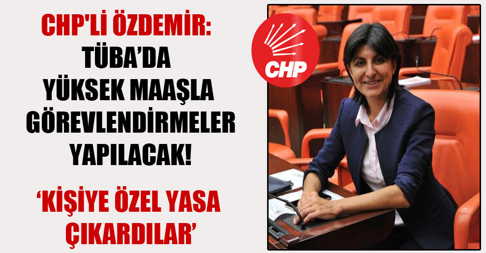 CHP'li Özdemir: TÜBA'da yüksek maaşla görevlendirmeler yapılacak!