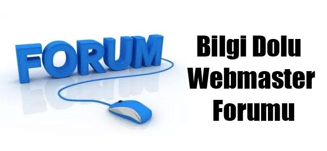 Bilgi Dolu Webmaster Forumu