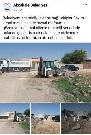 Akçakale Belediyesi Sevimli çöp mesaj