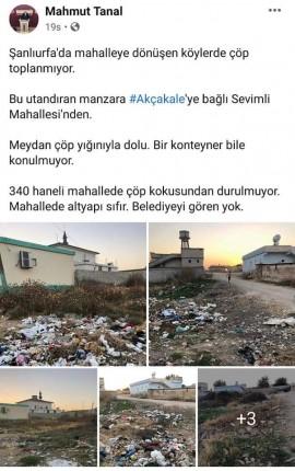 Akçakale sevimli mahallesi çöp paylaşımı