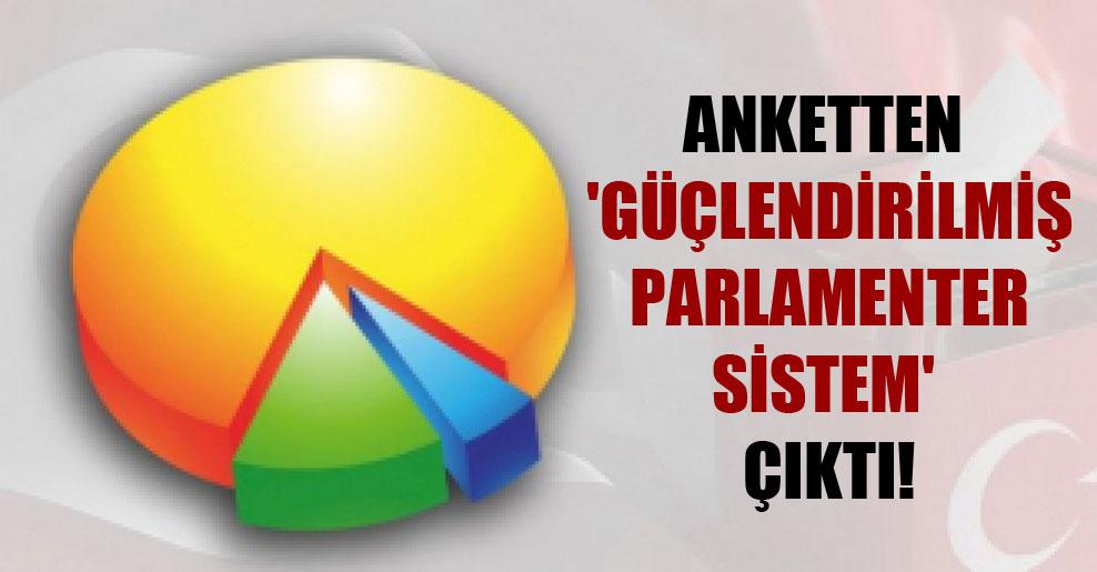Anketten 'Güçlendirilmiş parlamenter sistem' çıktı!