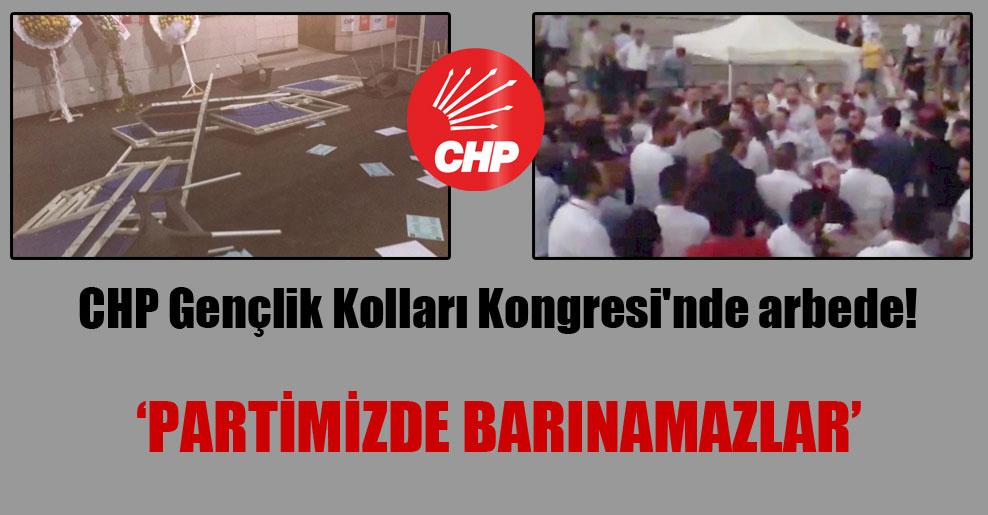 CHP Gençlik Kolları Kongresi'nde arbede!